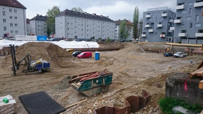 Baustellenbild Stadtwerke West Salzburg