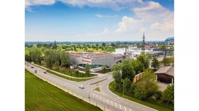 Transgourmet Eröffnung Luftbild Luftbilder Drohne von oben Baustelle Baustellen
